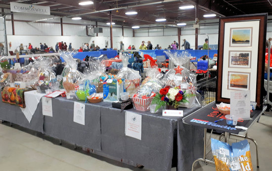 Raffle table for the Cattledog Specialty