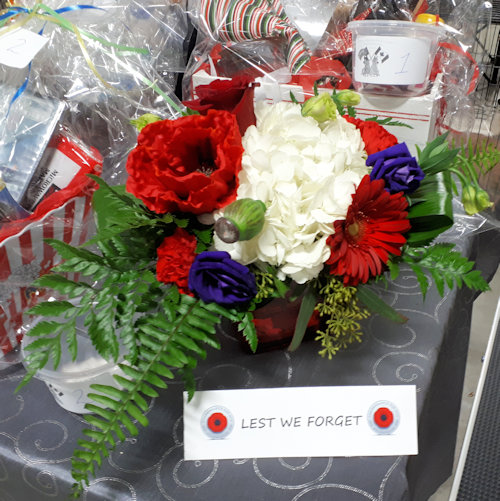 Flowers on the Aussie Cattledogs table